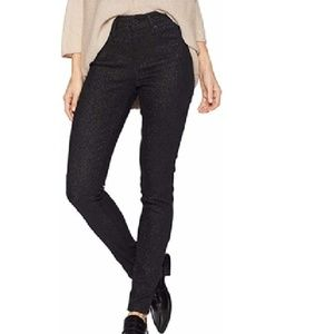 Levi's 721 High Rise Skinny Black Sparkly Jeans